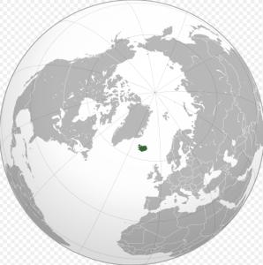 ísland kort