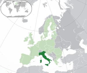 Italía kort