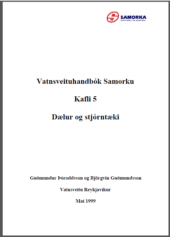 Dælur og stjórntæki - Vatnsveituhandbók Samorku