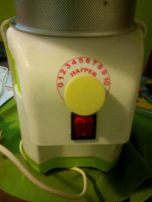регулировка нагрева и кнопка включения нагревателя на АСВ-01
