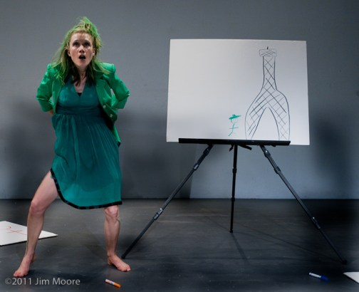 Amy Larimer performs her piece at Dixon Place