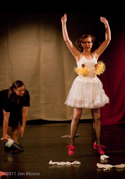 Honey Goodenough and Carol Lee Sirugo perform at Triskelion