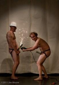 John Leo and Andy Sapora performing at Cirque Off