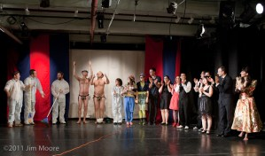 Curtain Call for all the Friday night cast at Cirque Off