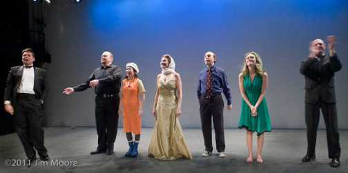 Curtain call at Dixon Place for the Downtown Clown Revue
