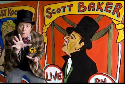 Sideshow banner painter Marie Roberts paints Scott Baker