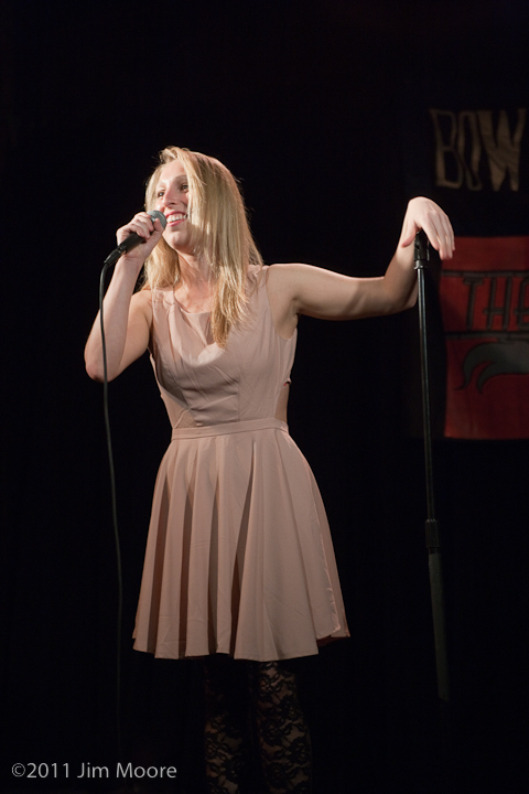 Myka Fox performs her stand up for the Bowery Poetry Club.