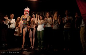 The Loose Caboose curtain call at The Bowery Poetry Club.