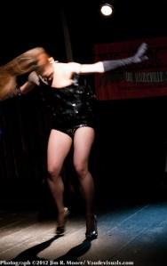 GiGi Bon Bon performs at the Loose Caboose Variety Show.