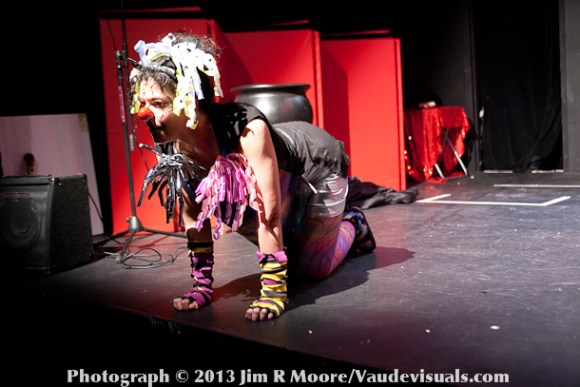 Stefania Schramm (Curlyburly)  performing as one of the tigers.