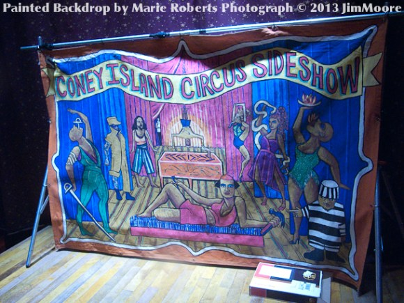 Coney Island Sideshow canvas painted by Marie Roberts