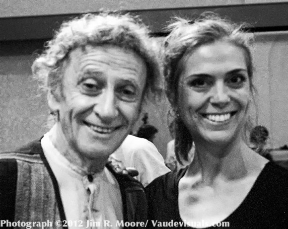 Marcel Marceau and Janet Carafa at City Center Studios