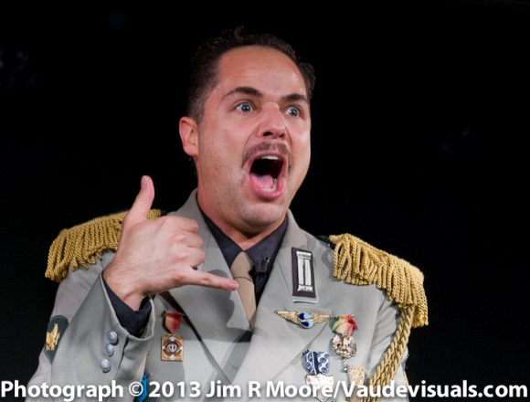 The General is outraged by the phone call in Guerra
