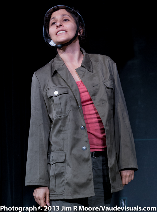 Madeleine Sierra Cassascal plays the audience member who gets drafted to fight.
