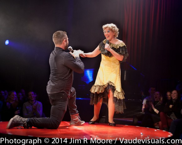 Mooky Cornish performing in La Soiree