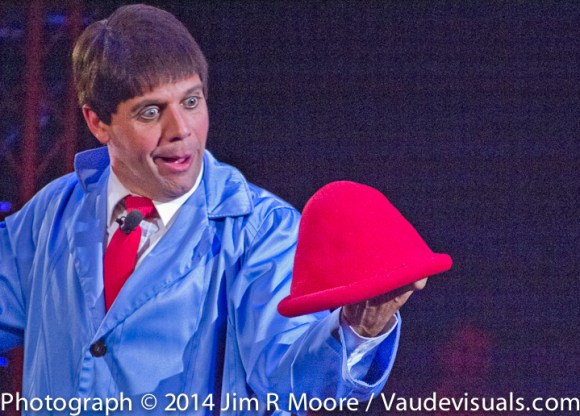 Rob Torres performs with The Big Apple Circus