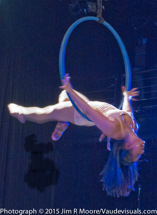 Mara Hsiung performs a beautiful aerial act.