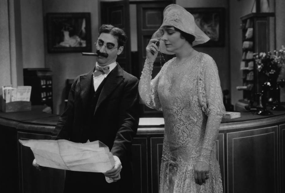 Groucho Marx with Margret Dumont
