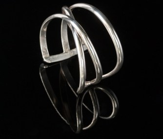 Sterling wire cuff
