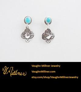 Celtic Blue and Sterling Earrings