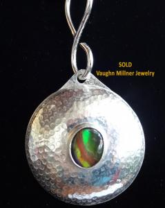 Sterling dome with ammolite SOLD
