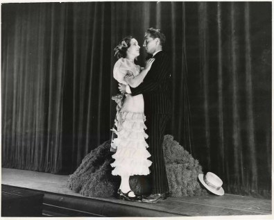 Image from the FTP Production in New Orleans, June 3, 1938. Act III: Muriel keeps her tryst with Dick