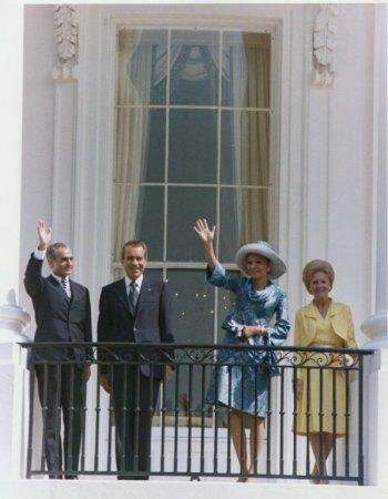 Nixon, Mrs. Nixon, Shah of Iran, and