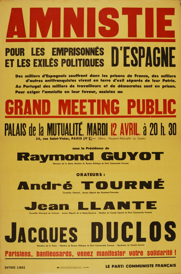 French Communist Party poster collection #C0168, MC folder 2, Special Collections Research Center, George Mason University Libraries.