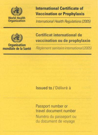 When traveling to or from some countries, a yellow fever vaccine isn't enough - you need an International Certificate of Vaccination proving that you were vaccinated.