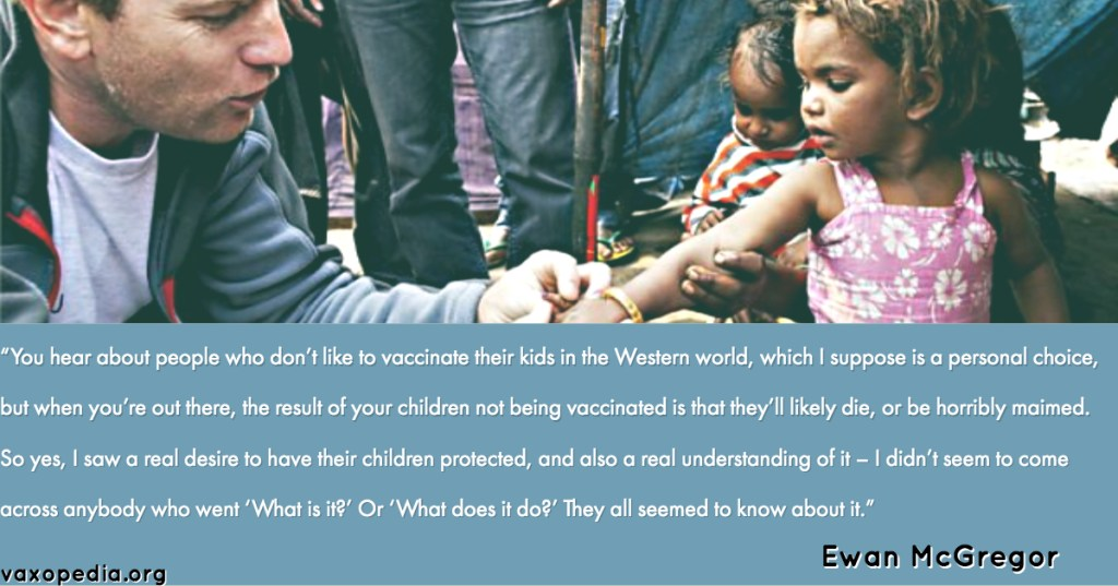 Did you know that Ewan McGregor is a celebrity vaccine advocate?