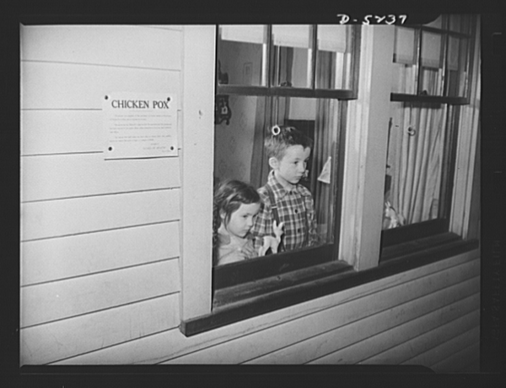 Once upon a time, with no treatment or vaccine, families would just be quarantined when they had chicken pox.