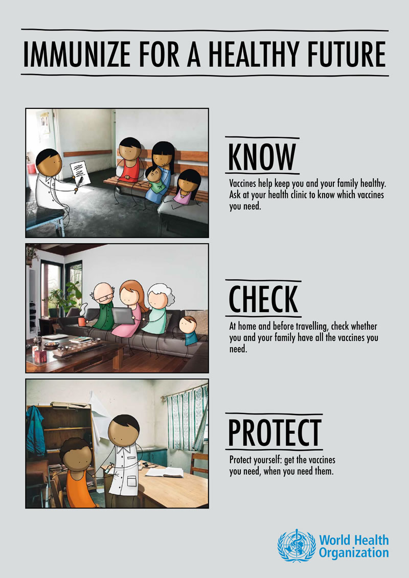 Know. Check. Protect. World Immunization Week 2014