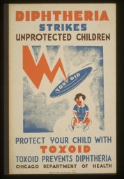 Diphtheria strikes unprotected children.