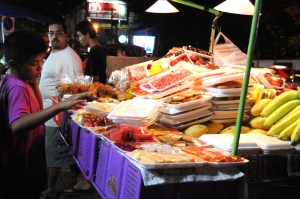 While adventurous and fun, eating street vendor food is probably a good way to get typhoid fever.