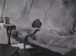 Surprisingly, treatments haven't changed much since this photo was taken of a patient with yellow fever in 1898.