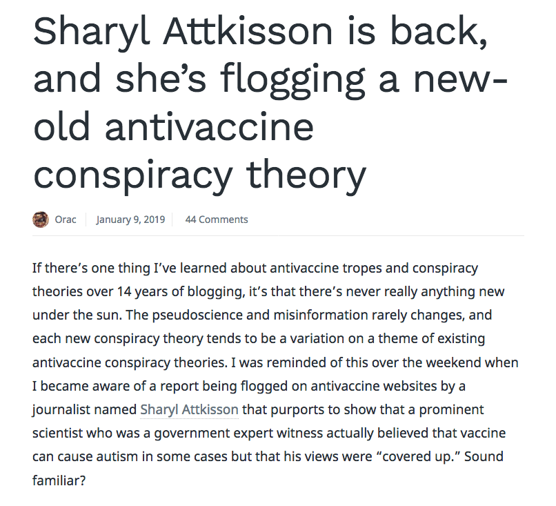 There is nothing new in Sharyl Attkisson's report or techniques.