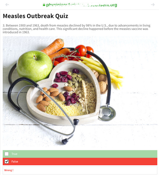 There is only so much that better hygiene, sanitation, and nutrition can do, which is why about 400 to 500 people were dying of measles in the 1950s and early 1960s just before the first measles vaccines were developed.
