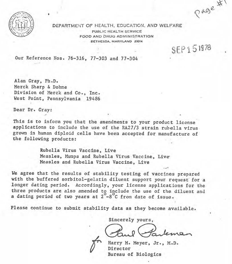 The new and improved MMR-II vaccine was approved by the FDA in 1978.