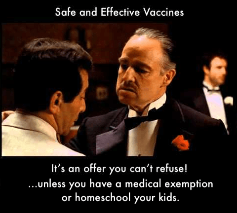 Vaccines are safe, with few risks, are obviously necessary and something you shouldn't refuse.