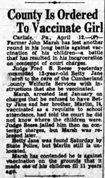 Going to jail for not vaccinating his kids became routine for John Marsh.