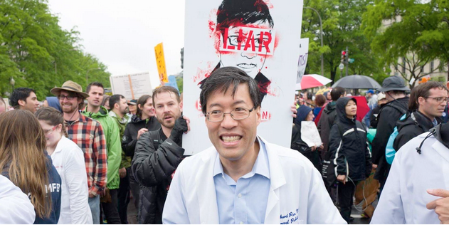 Senator Richard Pan was harassed at the March For Science in Washington D.C. on Earth Day  in 2017.