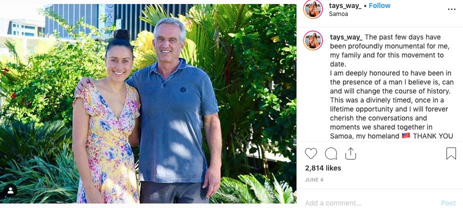 Bobby Kennedy visited Samoa in June...