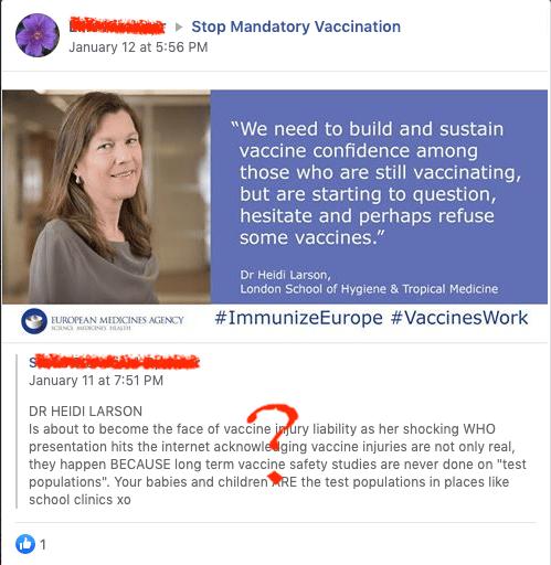 Heidi Larson is an expert on boosting vaccine confidence.
