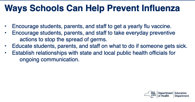 Call your local and state health experts before closing your school for the flu.