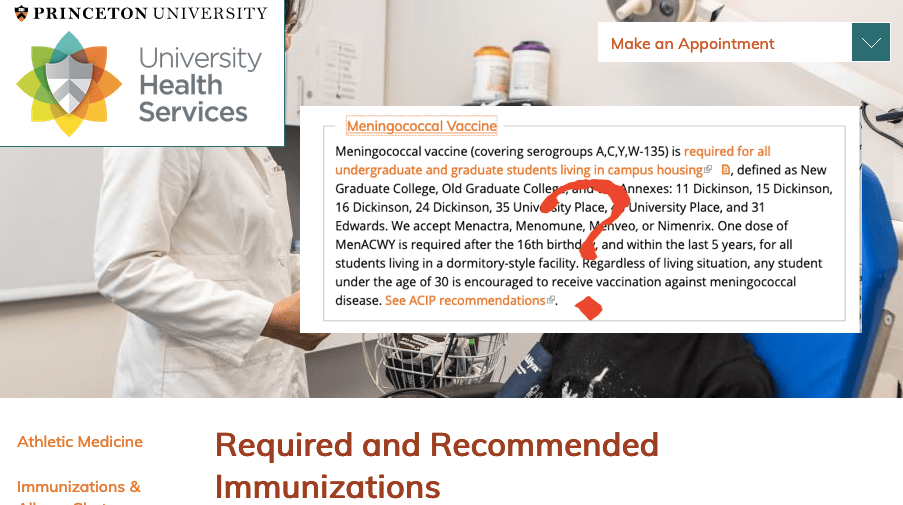 See ACIP recommendation? There is no ACIP recommendation for MenACWY vaccine over age 21 years...