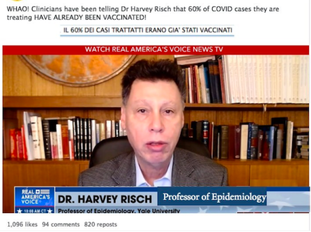 Who are these clinicians that Harvey Risch is talking to?