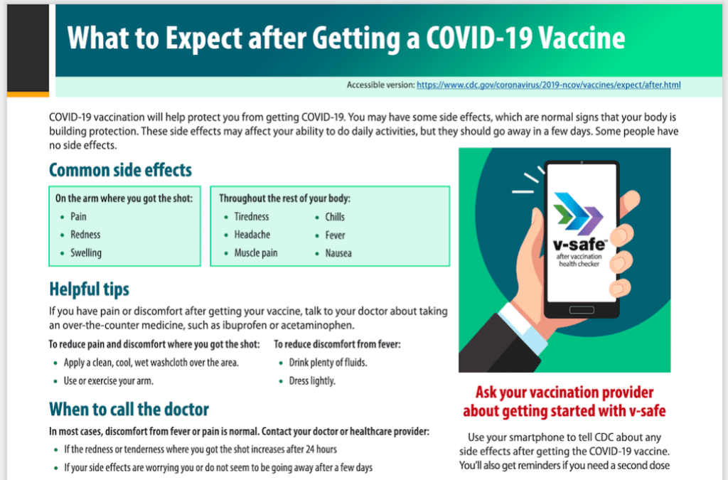 In addition to local reactions, many people do have headache and fever after their COVID-19 vaccines.