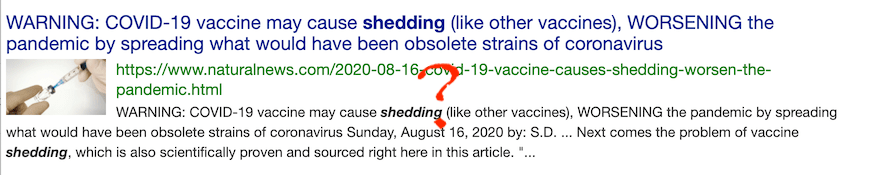 Mike Adams was warning folks about shedding before we even had any COVID-19 vaccines!