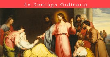 Jesus sana a la suegra de Pedro