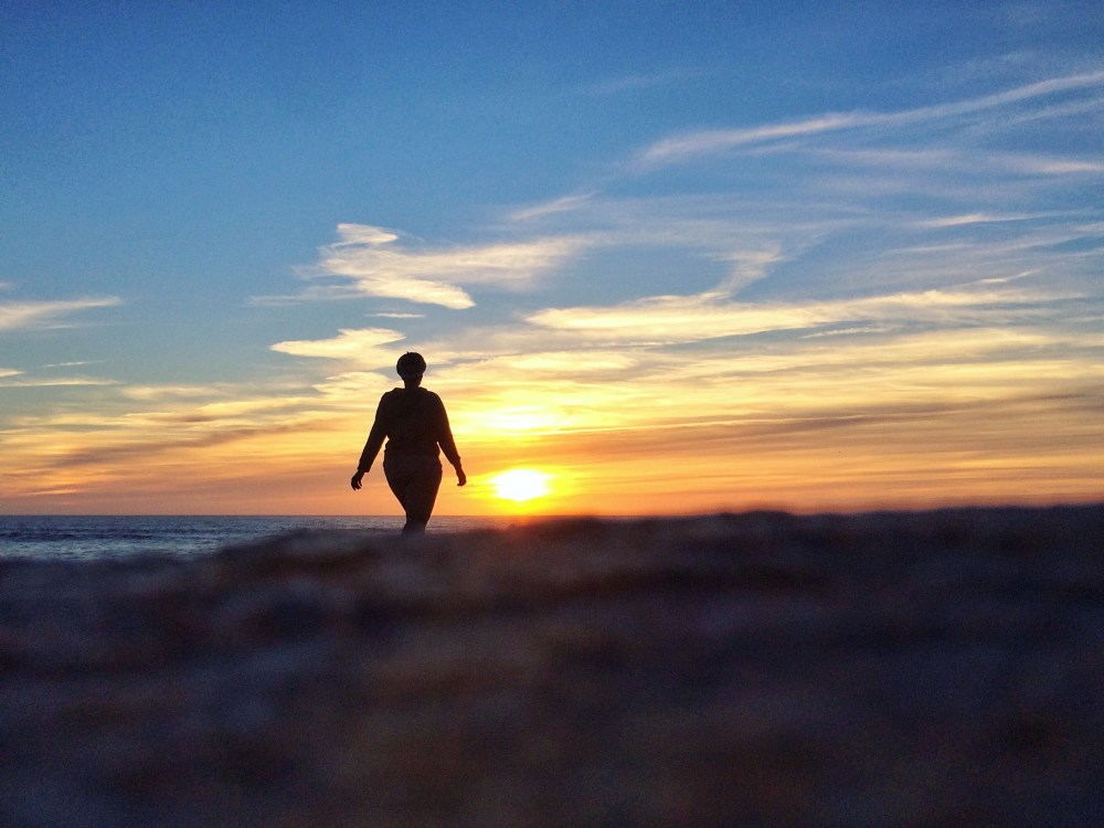 Sunset at Costa Nova Beach, Aveiro, Portugal
